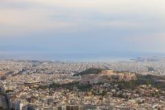 Parthenontempel i Acropolis Royaltyfri Bild