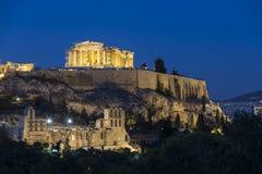 Parthenontempel i akropol Royaltyfri Fotografi