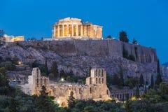 Parthenontempel i akropol Arkivfoton