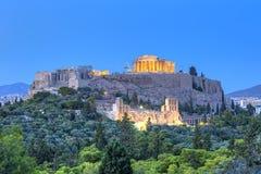 Parthenontempel i akropol Arkivbilder