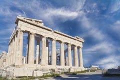 Parthenontempel i akropol arkivbild