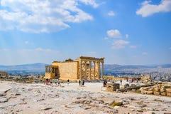 Parthenontemplet i akropolen på Aten, Grekland - resa bakgrund arkivbilder