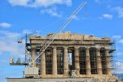 Parthenonwiederherstellung Stockfotos