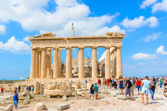 Partheon in Acropolis, Athens, Greece. Royalty Free Stock Images