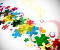 Parti astratte di puzzle Fotografie Stock