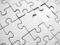 Parti bianche del puzzle Fotografie Stock Libere da Diritti