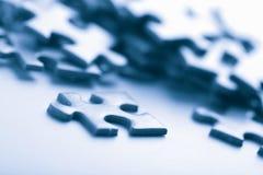 Parti blu di puzzle Immagini Stock Libere da Diritti