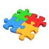Parti Colourful di puzzle Immagini Stock