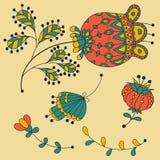 Parti decorate dei fiori Immagini Stock