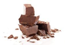 Parti del cioccolato Fotografie Stock