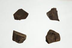 Parti del cioccolato accumulazione Fotografia Stock Libera da Diritti