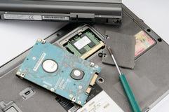 Parti del computer portatile fotografie stock