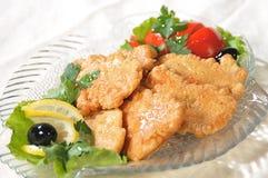 Parti del filetto di pesce Fotografia Stock
