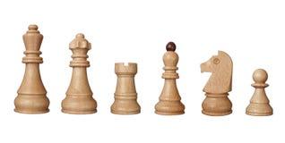 Parti del gioco di scacchi Fotografia Stock Libera da Diritti