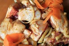 Parti del pollo grezzo Fotografia Stock