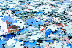 Parti del puzzle Immagine Stock