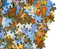 Parti del puzzle Fotografie Stock