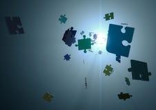 Parti del puzzle Immagine Stock Libera da Diritti