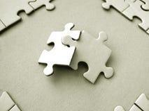 Parti del puzzle Fotografia Stock