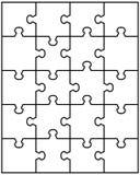 Parti del puzzle bianco Fotografie Stock Libere da Diritti