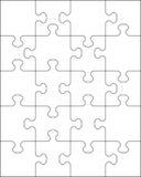 Parti del puzzle bianco Fotografia Stock