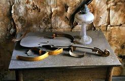 Parti del violino dell'annata Immagine Stock Libera da Diritti