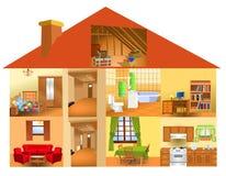 Parti della casa illustrazione di stock