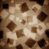 Parti della pellicola su tela di canapa Fotografie Stock