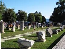 Parti della struttura romana Fotografia Stock