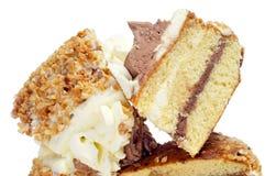 Parti della torta Fotografia Stock