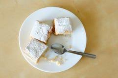 Parti della torta di mele Fotografia Stock