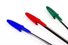 Parti delle penne isolate su bianco Fotografie Stock