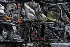 Parti demolita e schiacciato della ferraglia, Immagine Stock