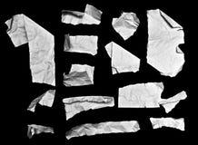 Parti di carta piegate della nota Fotografia Stock Libera da Diritti