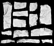 Parti di carta spiegazzate della nota Fotografie Stock
