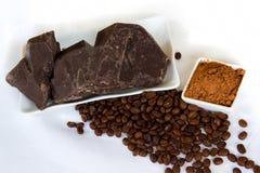 Parti di cioccolato Immagine Stock