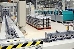 Parti di fabbricazione per il motore Immagini Stock Libere da Diritti