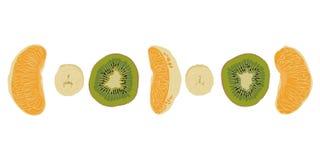 Parti di frutta Immagini Stock