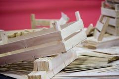 Parti di legno delle casse Fotografia Stock