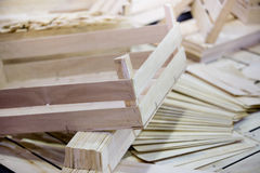 Parti di legno delle casse Fotografie Stock Libere da Diritti