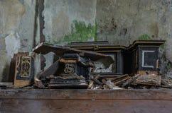 parti di legno distrutte dell'altare Fotografie Stock