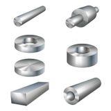 Parti di metallo dei prodotti siderurgici Fotografia Stock