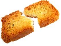 Parti di pane tostato Immagine Stock