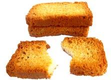 Parti di pane tostato Fotografia Stock