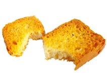 Parti di pane tostato Fotografie Stock Libere da Diritti