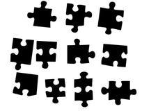 Parti di puzzle Immagine Stock