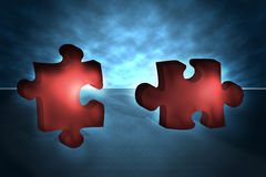 parti di puzzle 3D Fotografie Stock