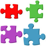 parti di puzzle 3D Fotografia Stock Libera da Diritti