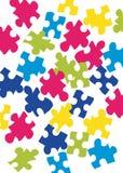 Parti di puzzle Fotografia Stock