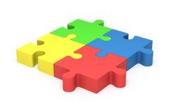 parti di puzzle 3D Unità di concetto Fotografia Stock